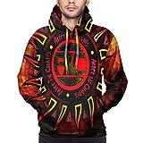 Alice in Chains Hoodies Sweater Fashion 3D Printed Men's Hoodie Sweatshirt Jacket X-Large Black