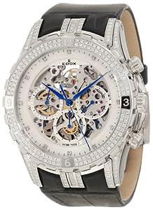 Edox Men's 95002 3DB NAD Grand Ocean Chronograph Mother of Pearl Skeletal Diamond Watch image