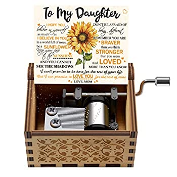 Engraved Color Music Box - Gift for Daughter from Mom - Don t Be Afraid Of Being Different  MB-370-Momdau  Christmas Gift Ideas for Her