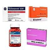 MEGABOL MEGA Set - Testosterol 250 30 Capsules   Biosterol 36 Capsules   Inh-AR 60 Capsules   Meta anabolon 60 Tablets - Testosterone Boosters - Inhibitor Aromatase - Estogen Blocker - Muscle Growth