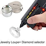 LuckyStone Jeweler Tool Kit Jewelry Diamond Selector II Portable Tester LED Plus 30X Jewelry Loupe