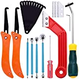 Keadic 22 Pcs Grout Removal Tool Set Contains Grout Saw Knife, Grout Hand Saw with 8'' Diamond Surface Blades, Tile Joint Cleaning Brush, Caulking Edge Tool Grout Cleaner for Joints Seams Corner