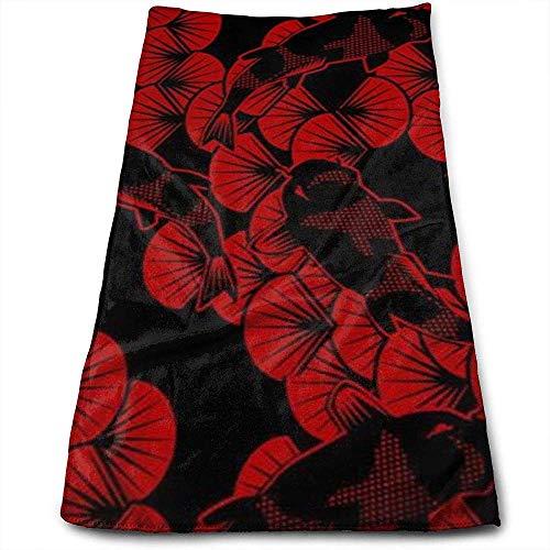 Bert-Collins Towel Papercuts Rouge Noir Personnalité Amusante Motif Visage Serviettes Fibre Superfine Super Absorbant Doux Serviettes De Gym