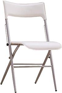 SACKDERTY Klappstuhl Klappstuhl Haushalt Esszimmer Sitz Rückenlehne Stuhl Schreibtisch Stuhl Weiß Kunstleder
