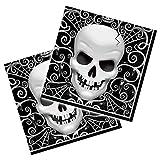 Horror-Shop Halloween tovaglioli con teschio