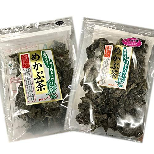 めかぶ茶 60g・めかぶ茶うめ味 50g【紀州産南高梅乾燥梅肉使用】海藻ぬるぬるパワーを毎日継続・食べよう海藻!各1袋ずつ、合計2袋で発送致します。