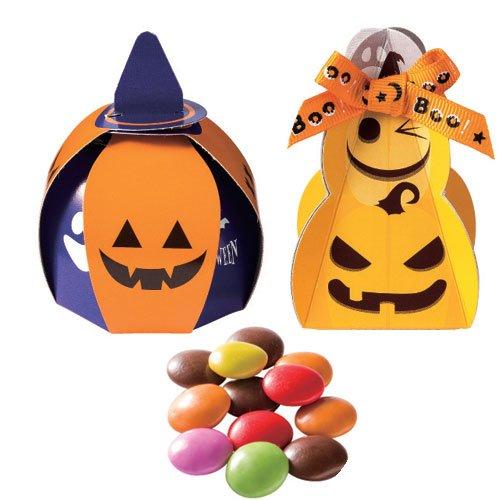 プチギフト ハロウィン お菓子 大量 ばらまき用『ハロウィンかぼちゃ馬車2種アソート(マ ーブルチョコ)』個包装 子ども かわいい 業務用 景品 OGT702 (かぼちゃ&ツリー●100個セット)
