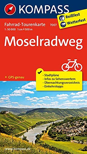 51aRyH7LXzL - Fahrrad-Tourenkarte Moselradweg: Fahrrad-Tourenkarte. GPS-genau. 1:50000. (KOMPASS-Fahrrad-Tourenkarten, Band 7007)