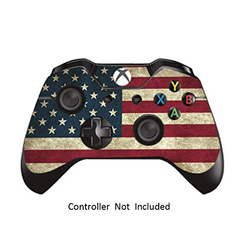 Skins Stickers for Xbox One Games Controller - Custom Orginal Xbox 1 Remote Controller Wired Wireless Protective Decals Covers Protector Accessories - Battle Torn Stripe