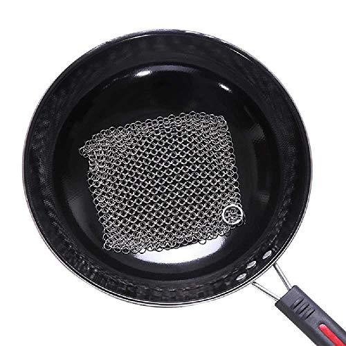 WEONE Keuken benodigdheden 316 RVS Borstel Pot Netto Wassen Pot Net Metalen Ring Net Keuken Schoonmaak Borstel Pot Net