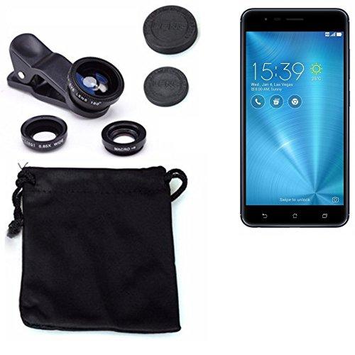 3in1 Asus ZenFone 3 Zoom Lenti FishEye (180°) Grandangolo (0.67x) Macro Obiettivi Smartphone Cellulare Obiettivi Smartphone- K-S-Trade