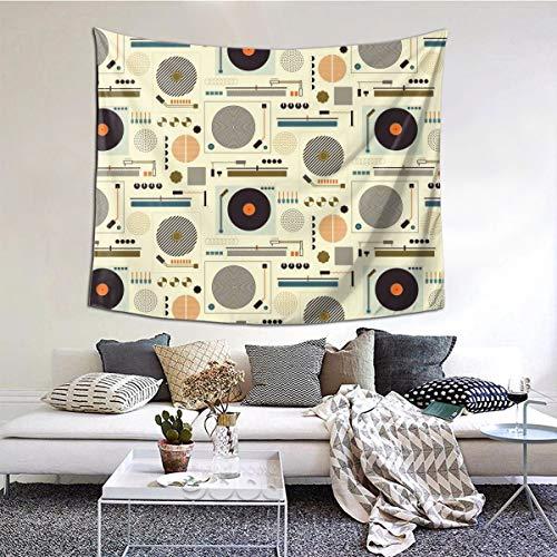 BathWang Bauhaus Records Große Tischdecken, Schlafzimmer, Wohnzimmer, Wohnzimmer, Wohnzimmer, Wandteppich, Wandbehang, 152,4 x 134,8 cm, Textil, Schwarz, 60 * 50inches