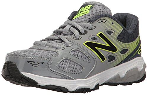 New Balance Boys' 680 V3 Running Shoe, Grey 1/Hi-Lite, 5.5 W US Big Kid