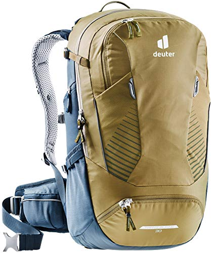 DEUTER Unisex– Adult's Trans Alpine 30 Bicycle Backpack, Clay-Navy, 30 l