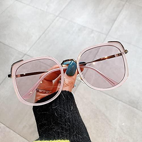 Gafas De Sol Gafas De Sol De Ojo De Gato para Mujer Gafas De Sol De Gran Tamaño para Hombre Gafas De Metal Retro Color De Mujer para Hombre Rosa