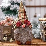 Muñeca de peluche de Gnome, hecha a mano, elfo, juguete sueco de peluche, figuras de ventana, decoración de vacaciones, regalos, fiesta, Navidad, decoración, juguete decorativo, 30 x 8 cm (16#)
