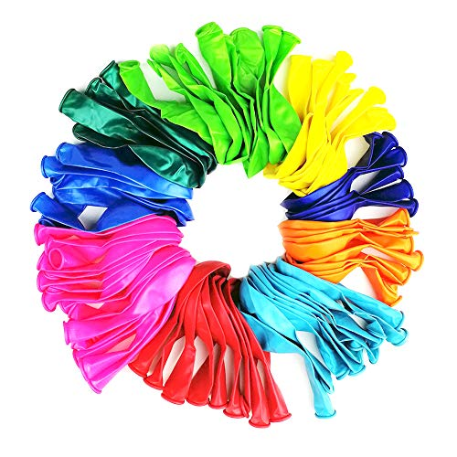 Multicolor Balloons 12 Inch Strong Latex about 16 color 100 Pcs Balloons for Party Celebrate Birthday Christmas Wedding and Holidays,For Helium Or Air Use,Decoration Accessory