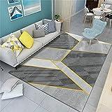 Habitacion Niña Alfombras Online Sala de Estar Alfombra Gris Moderno diseño geométrico al Aire Libre Lavado de Agua Duradera 160X200cm