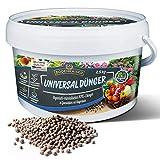 Bodenkaiser Universaldünger, organisch-mineralischer Pflanzendünger für Ihren Garten mit Langzeit-Wirkung, 2,5 kg Dünger Granulat im praktischen Eimer