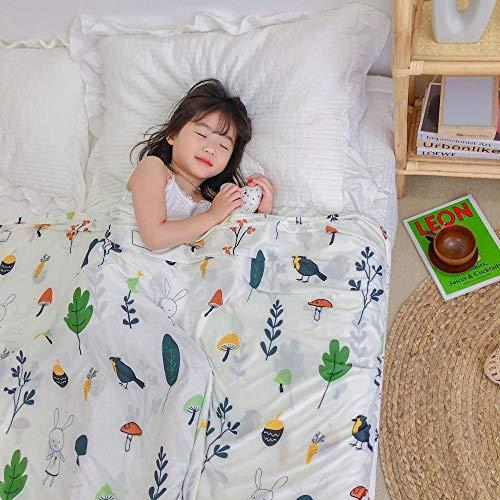 Été Simple Cool tricoté Couverture Maternelle climatiseur Sieste Couverture Mince Couverture pour Enfants bébé câlin Couverture-forêt_120 * 150cm