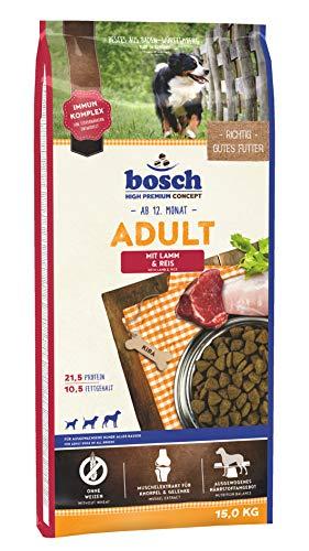 bosch HPC Adult mit Lamm & Reis | Hundetrockenfutter für ausgewachsene Hunde aller Rassen, 1 x 15 kg