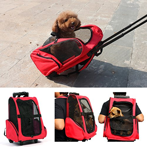 AURSEN Dog Trolley, Cat and Dog Carrier Backpack 36 x 23 x 50 cm