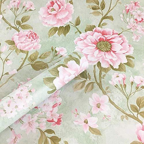 ZTKBG Vintage groen roze behang Peel Stick plank Liner Funitures commode ladekast contact papier decor