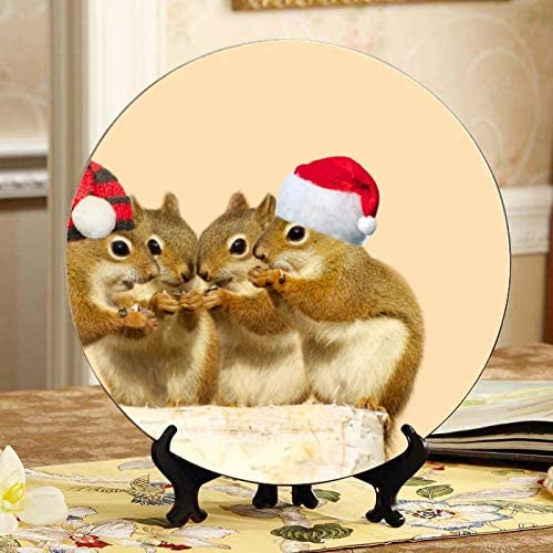 ALALAL Fashion Two Lovely Rabbits in Wool Popular popular Ceramic Hats Decorative Plate