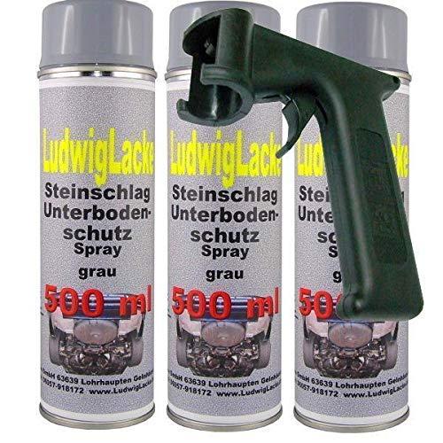 Steinschlagschutz UBS grau überlackierbar 3 x 500 ml Spraydose Plus Haltegriff