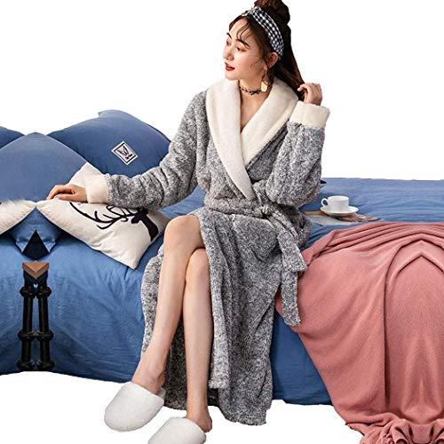 AXIANQIPJS Kerstman-badjas, 100% fleece, voor de winter, super zacht, lang, dik, warm