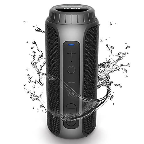 Zamkol Altavoz Bluetooth Potente 30W, Sonido Estéreo, Impermeable IPX6, Altavoz Bluetooth Portatil, Bluetooth 5.0, Graves Mejorados, AUX-in, Tipo-C, Soporte Tarjeta TF