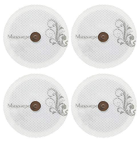 Hydas 4490.1.30 Selbstklebende Ersatzpads für Smart Massager, mit Magnetverbindung, 4 STK, 6 x 6 cm