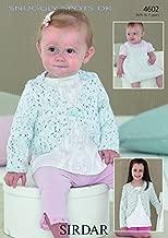 Sirdar Baby Cardigan & Pinafore Dress Snuggly Spots Knitting Pattern 4602 DK