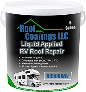 RC5000RV Liquid RV Roof Coating & RV Roof Repair (5 Gallon)