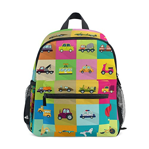 COOSUN 30 Iconos de Transporte Mini Mochila Kids Pre-Escuela de la guardería del niño Bolsa