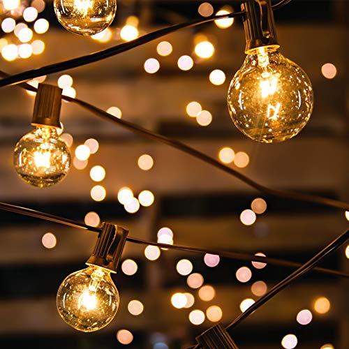 Avoalre Catena Luminosa 30+3 Lampadine Luci Esterno Professionali IP65 Impermeabile Illuminazione Giardino G40 Bulbi 10m Luci Decorativa da Interni e Esterni per Casa Festa Giardino Natale