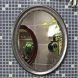 JXSMBP Mirror Wall Decor,Round Shape Frame, Elegant European Wall Hanging Dressing Mirror Decor for,Bathroom,Bedroom,Washrooms,Living Rooms