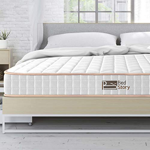 BedStory 6 Inch Twin Mattress, Hybrid Spring Mattresses with Innerspring Coils & CertiPUR-US Certified Foam, Medium Firm Bed in A Box - Supportive Comfort