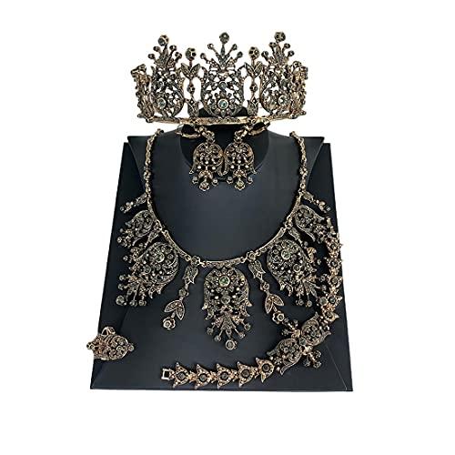 QXZ-WOLFBERRY Conjunto de Joyas de decoración de Vestido de Novia Turco, Conjunto...