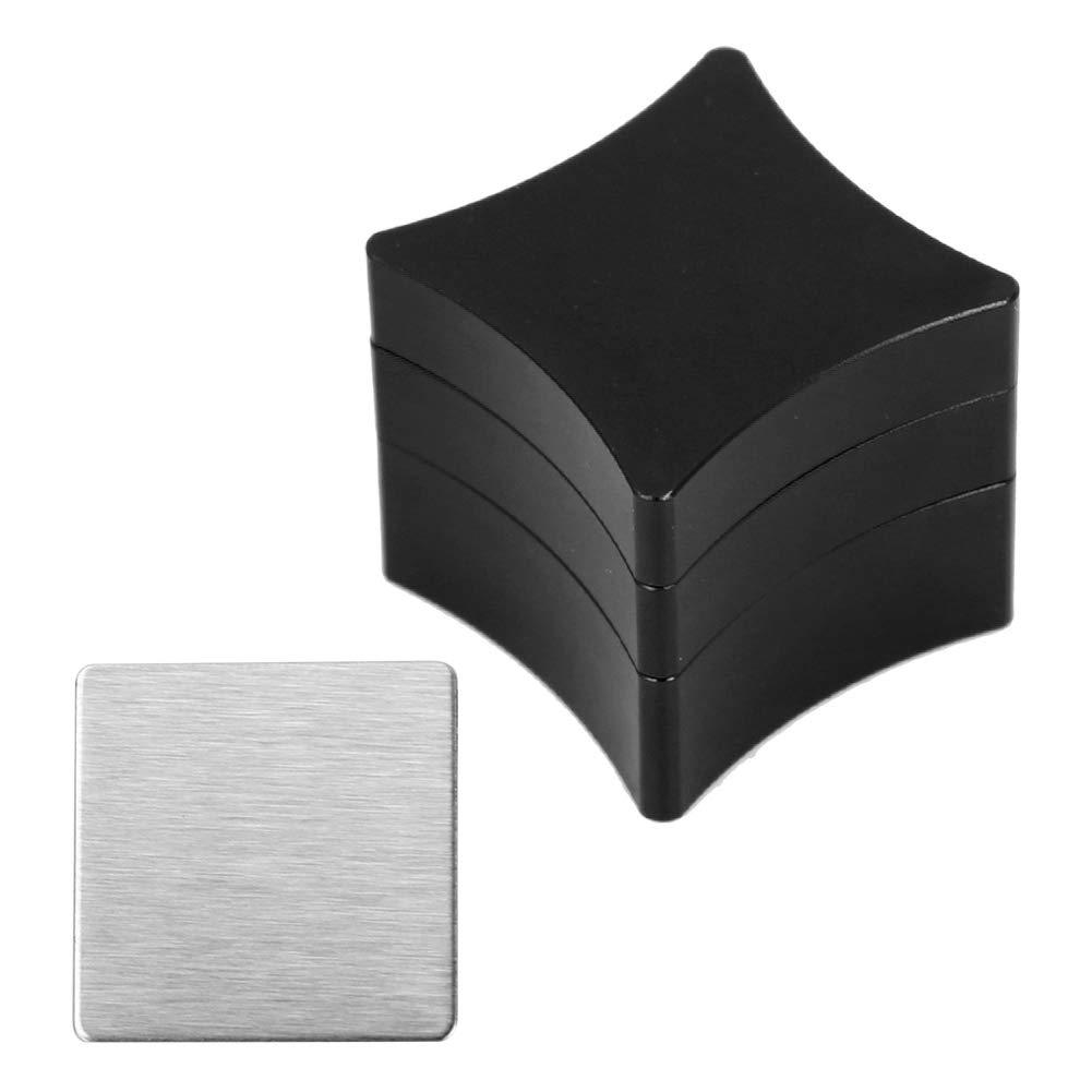 Soporte De Tiza De Billar Soporte De Tiza De Aluminio para Billar Pool Cue Soporte De Tiza Cerrado Magnéticamente(Negro): Amazon.es: Deportes y aire libre