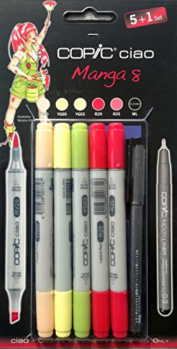 Copic Ciao Lot de 6 Marqueurs de dessin Couleurs Manga 8
