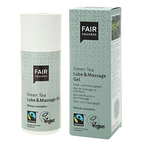 FAIR SQUARED Lube & Massage Gel Green Tea 150 ml - vegane Naturkosmetik - Zero Waste