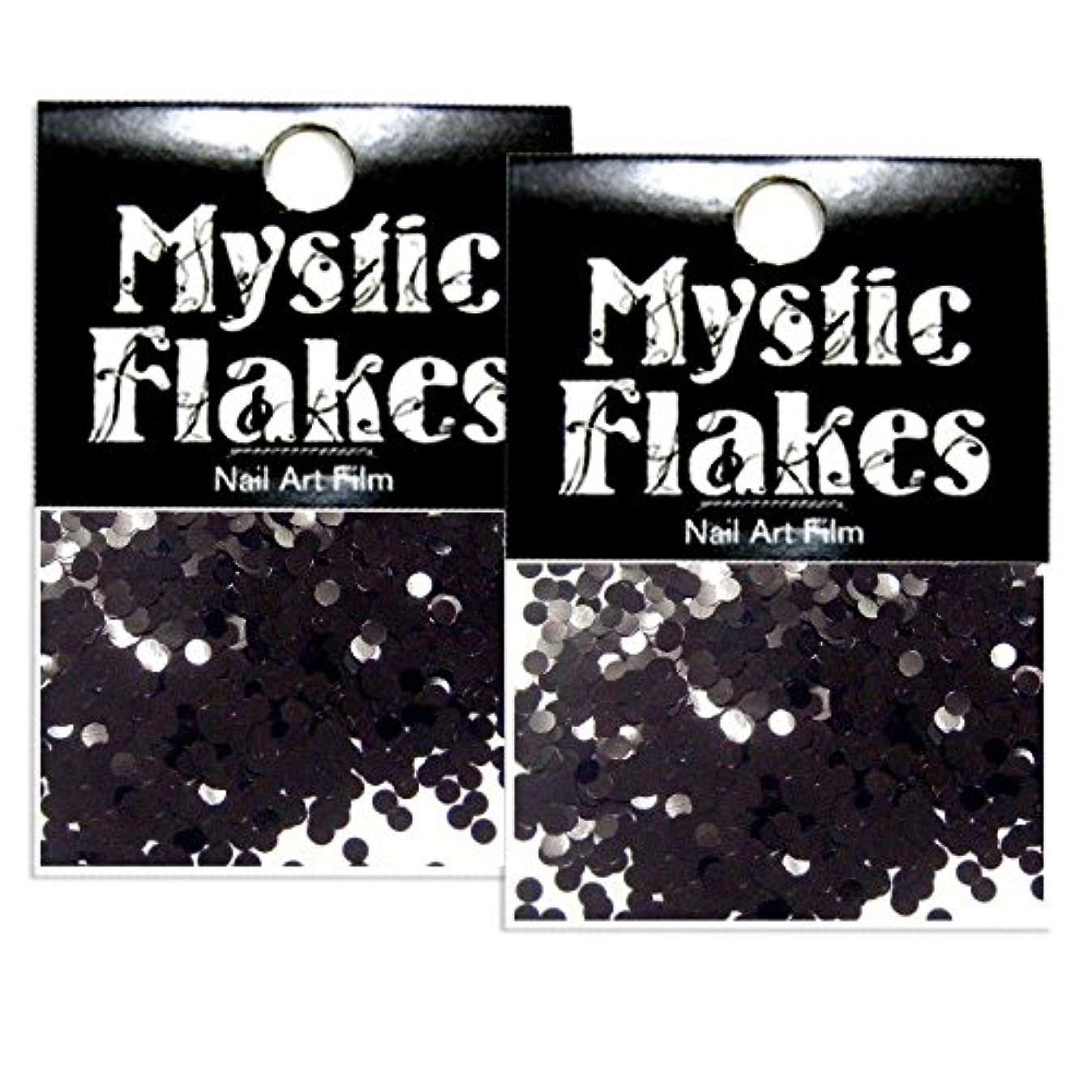 過度に哲学年金ミスティックフレース ネイル用ストーン メタリックブラック サークル 2mm 0.5g 2個セット