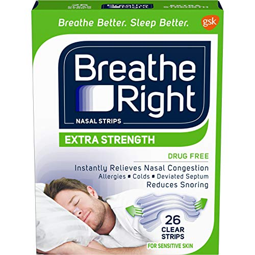 Breathe Right Extra Clear for Sensitive Skin, 26 Count