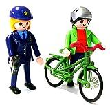 playmobil  - Radfahrer wird von Polizei belehrt