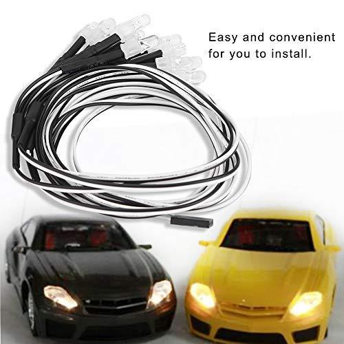 RC Auto-LED-Lichter, 12 Stück 5mm / 3mm Scheinwerfer und Rücklichter LED-Lichter für RC Modell Drift Auto-Zubehör