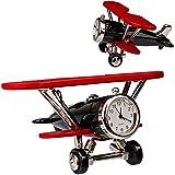 alles-meine.de GmbH kleine - Tischuhr / Miniatur - Uhr - Doppeldecker Flugzeug / Oldtimer - aus...