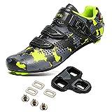 Santic Cycling Shoes 3 Straps Suitable for Peloton & Look Delta Bike Shoes