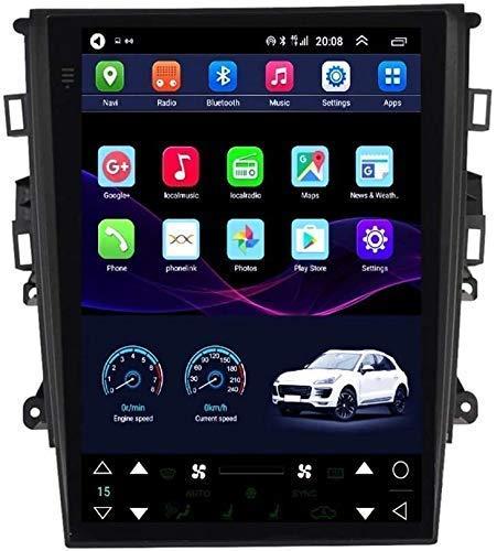 HYDDG Navegación GPS para Ford Mondeo 2013-2018, Coche Estéreo Multimedia Radio 2 DIN - 9.7 Pulgadas Sat Nav Pantalla táctil Nav con Bluetooth WiFi Enlaces con Espejo