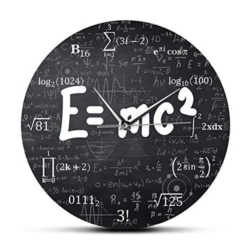 TOLYZ Relativity Formula Matematica Freak Orologio da Parete Scienziato Insegnante Fisica Regalo Scuola Decorazione dell'aula